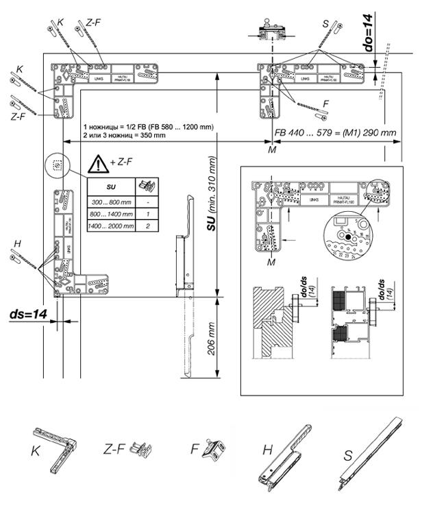 Схема монтажа фрамужного