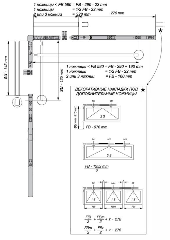 Схема монтажа гибкой тяги